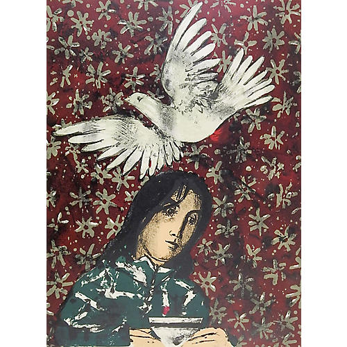 White Dove Lithograph