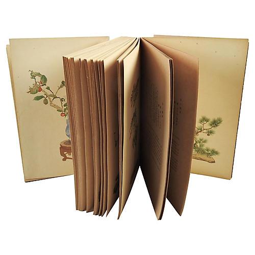 Flower Arrangements Accordion Book
