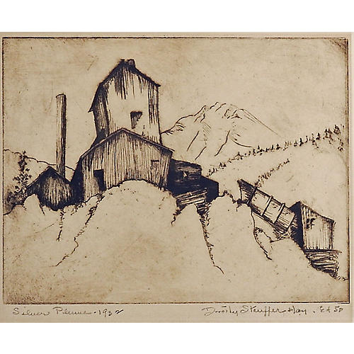 Colorado Etching by Dorothy Stauffer Hay