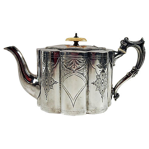 A. Browett English Silverplate Teapot