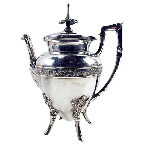 Aesthetic Movement Silverplate Tea Pot