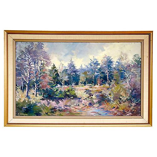 Impressionist Forest Landscape