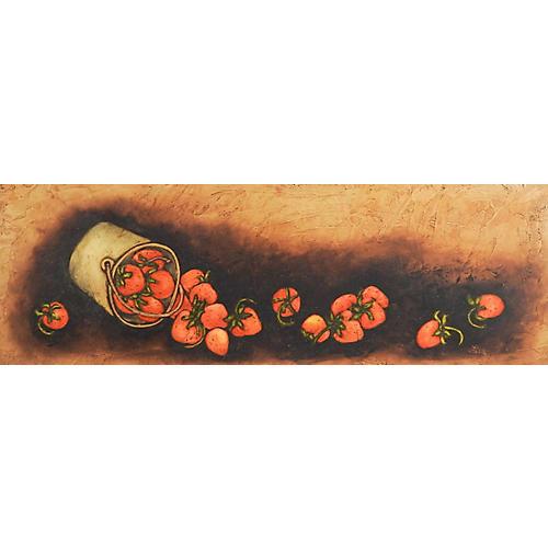 Rustic Still Life Strawberries