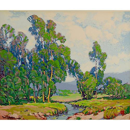 Paul Lauritz Serigraph Landscape