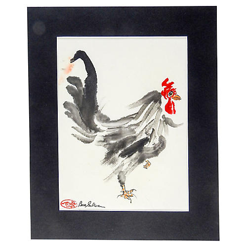 Rooster Watercolor