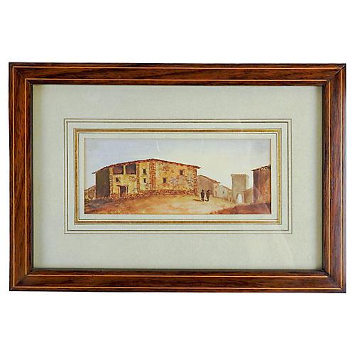 Spanish Village Watercolor