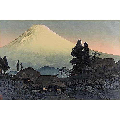 Hiroaki Takahashi Mt. Fuji Woodblock