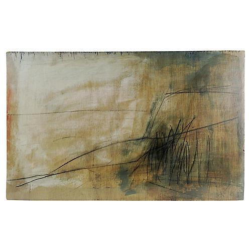 Abstract Mixed-Media Landscape