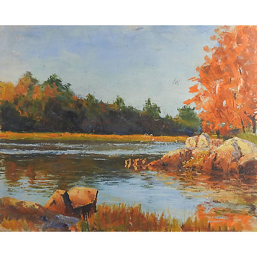 River Landscape Painting