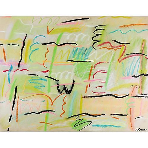 Bold Abstract Pastel Drawing