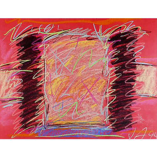 Bold Pink & Black Abstract Pastel