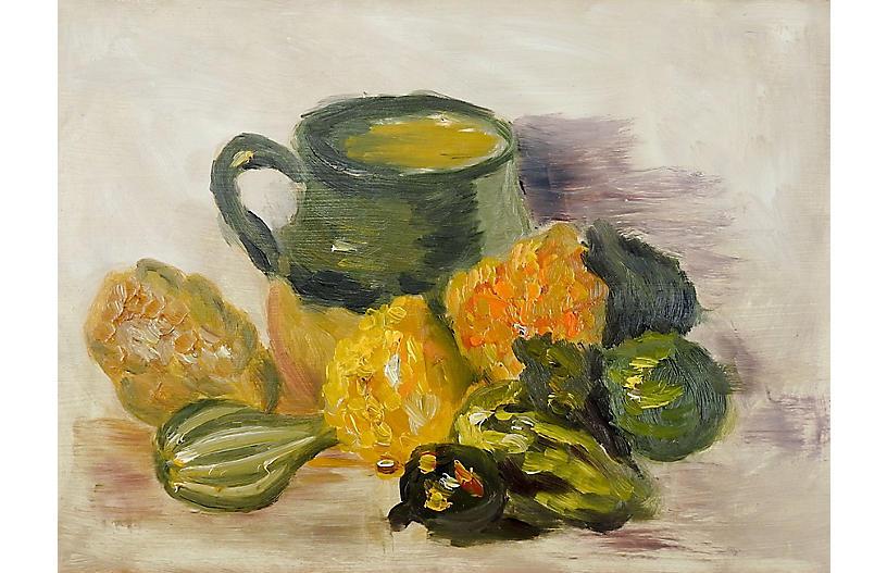 Autumn Kitchen Still Life Painting