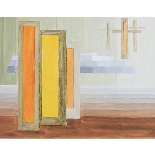 Geometric Abstract Brown & Yellow