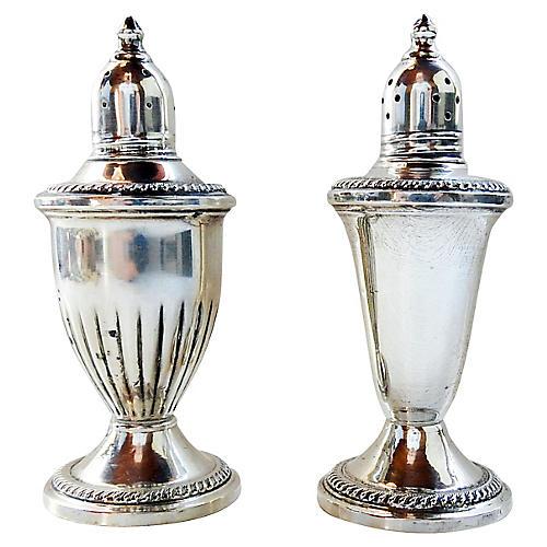 Sterling Silver Salt & Pepper Shakers
