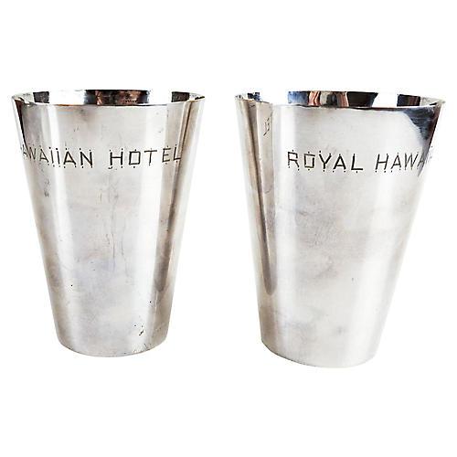 Silver Royal Hawaiian Hotel Cups, S/2