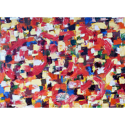 Red & Yellow Abstract Painting