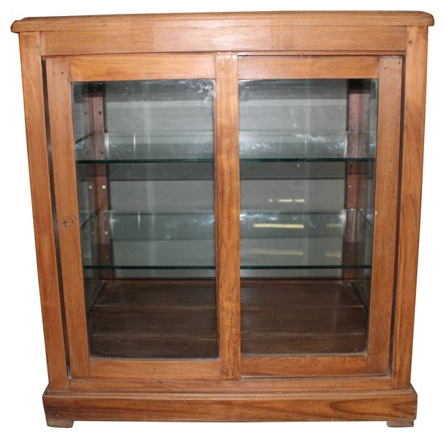 Indian  Teak Display   Cabinet