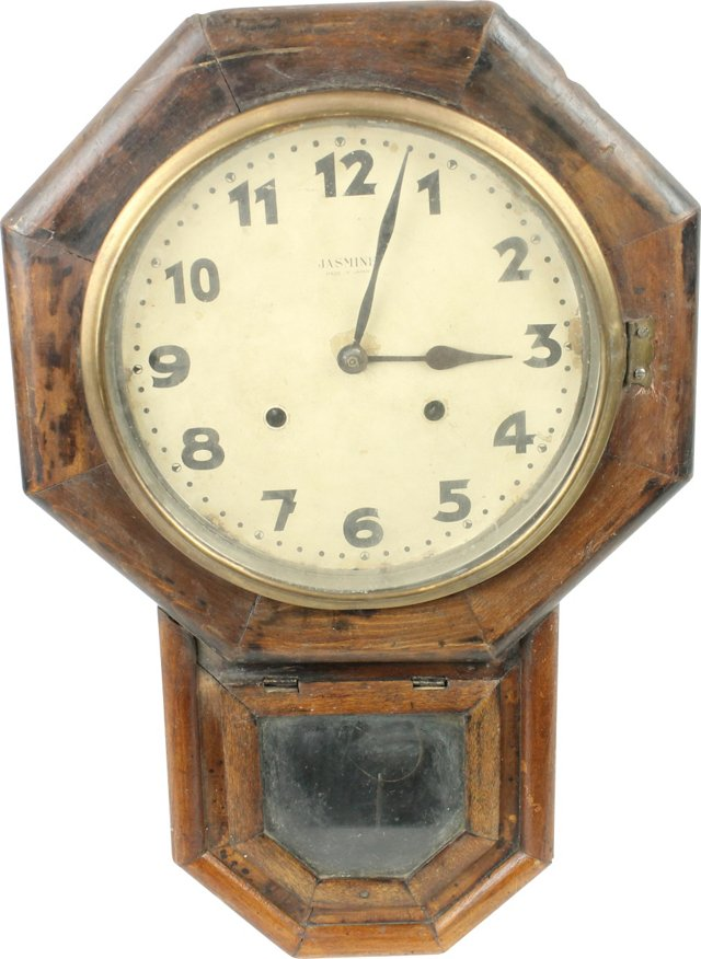 Early-20th-C.  Rosewood Clock