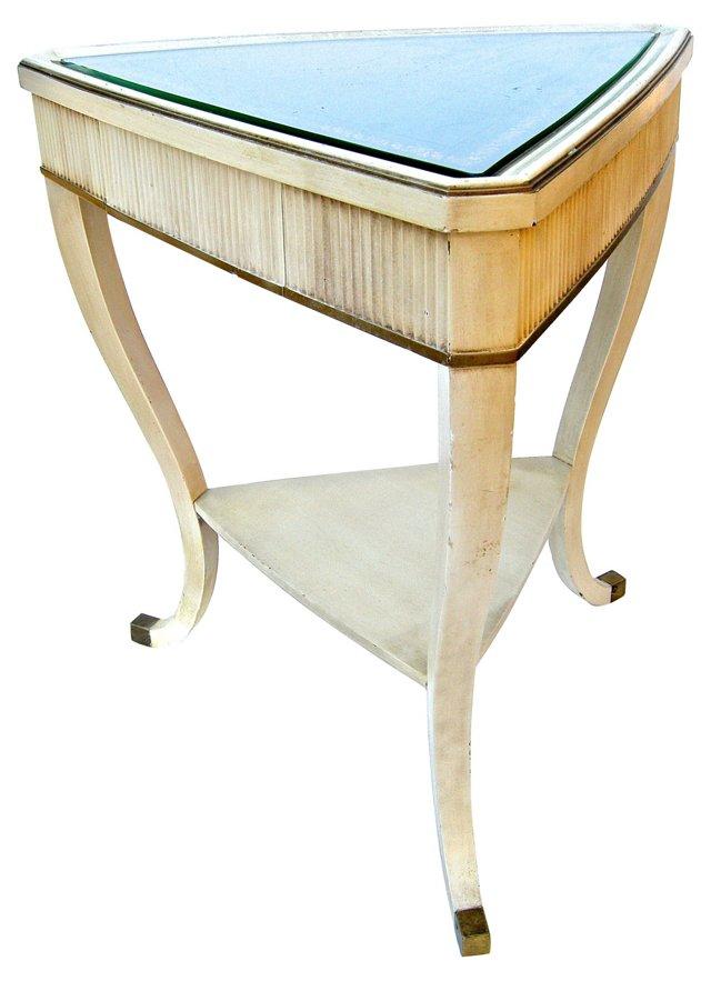 Triangular Regency-Style Side Table