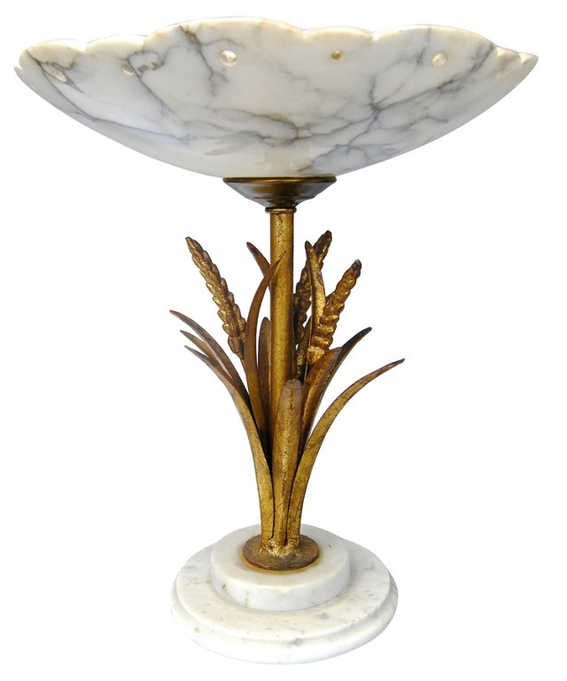 Wheat Sheath Marble Compote