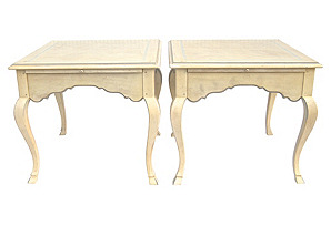 French-Style End Tables, Pair