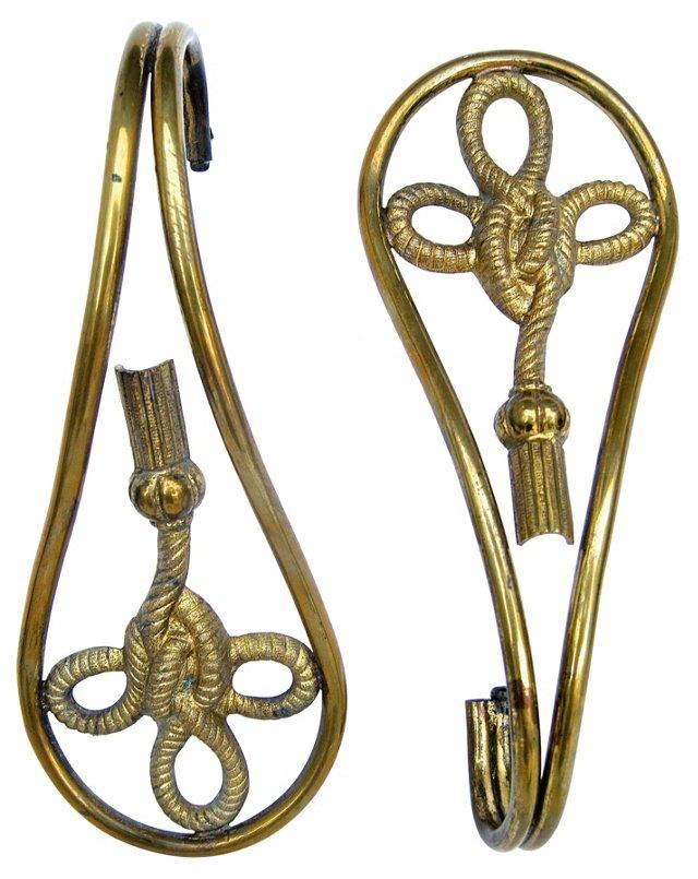 Rope & Tassel Tie Backs, Pair