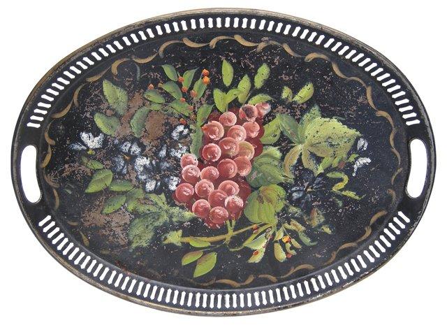 Grape Tole Tray