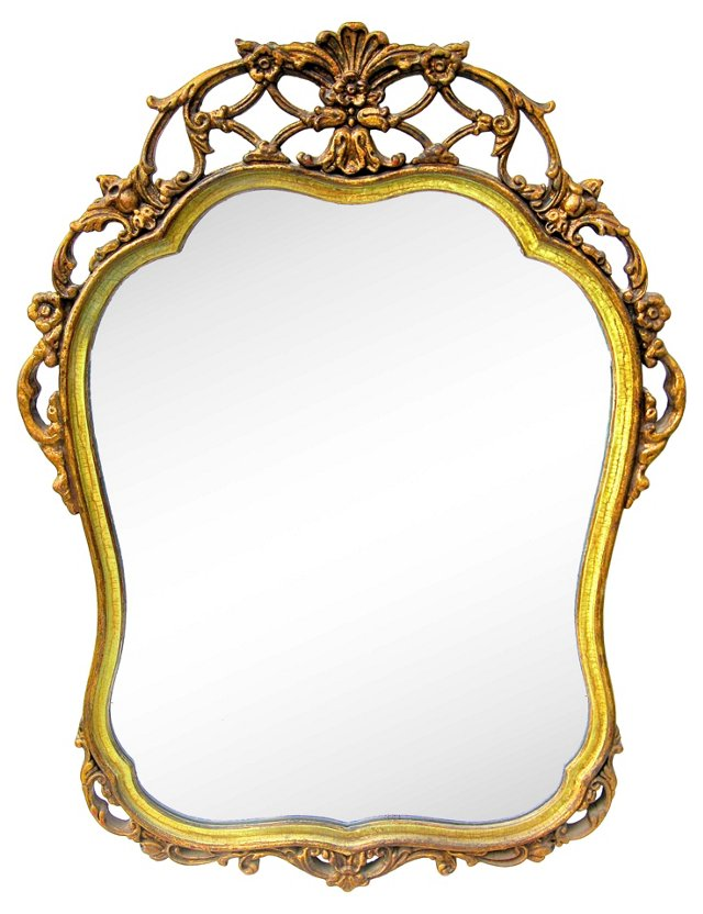 French Gilt Fretwork  Mirror