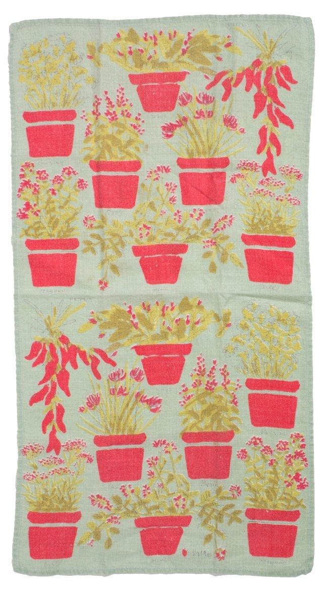 DNU Vera Potted Plant Tea Towel