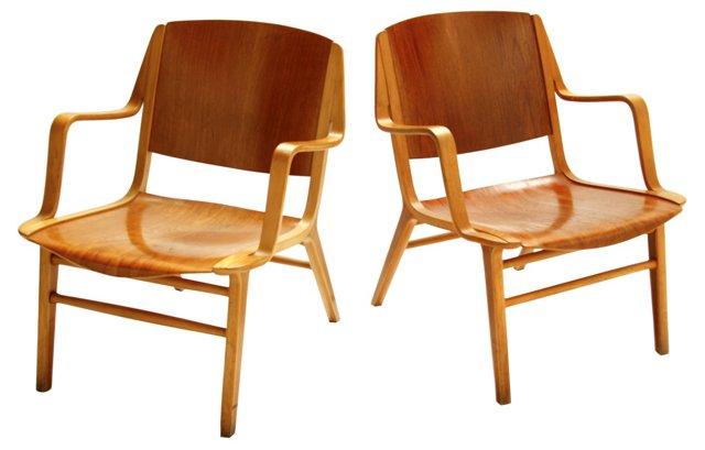 Fritz Hansen AX Chairs, Pair