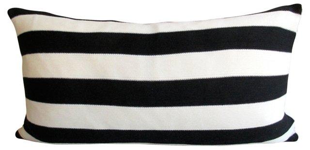 Body Pillow w/ Indigo & Oyster Stripes