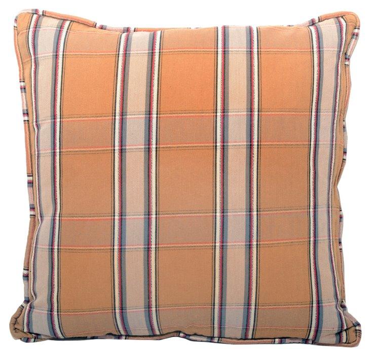 Pillow w/ English Plaid