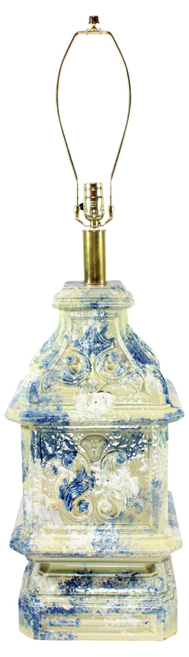 Speckled  Ceramic Tower Lamp