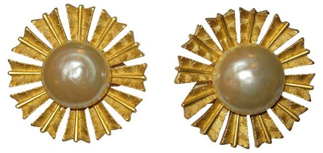 Karl Lagerfeld Sunburst Earrings