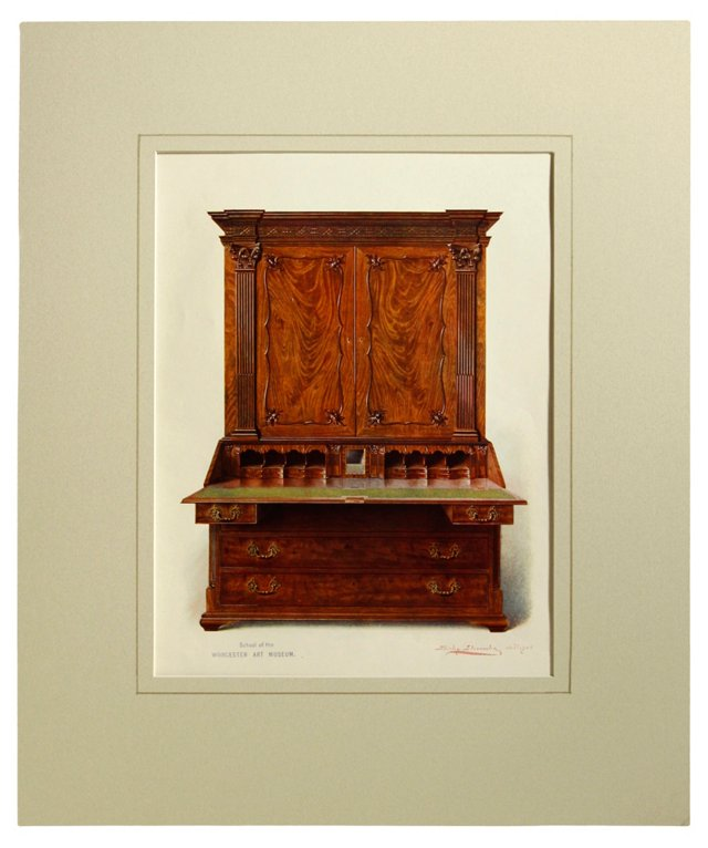 Writing Cabinet by Slocombe, 1906