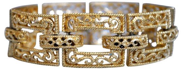 Crown Trifari Link Bracelet
