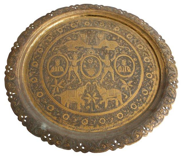 Handmade Brass Tray