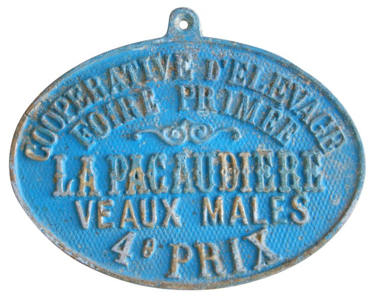 Gilt French Award  Plaque