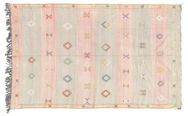 Casablanca Kilim w/ Silk, 8' x 5'