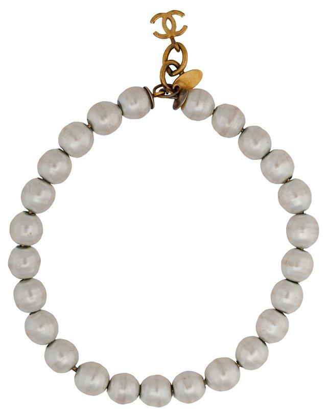 Chanel Faux-Pearl Bracelet