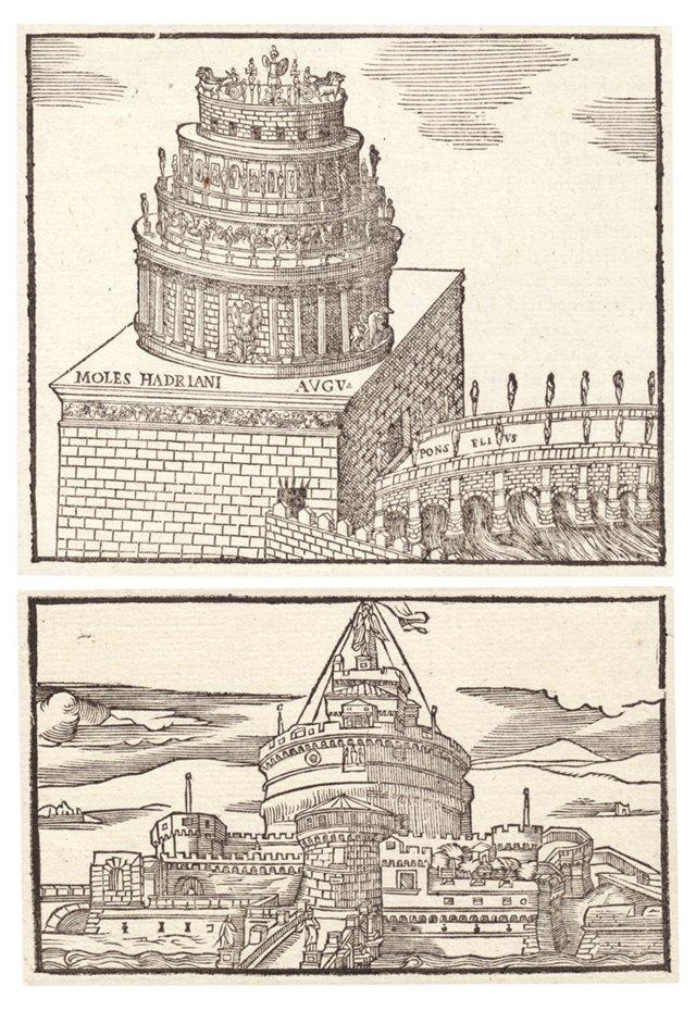 Castel Sant'Angelo Engravings, Pair
