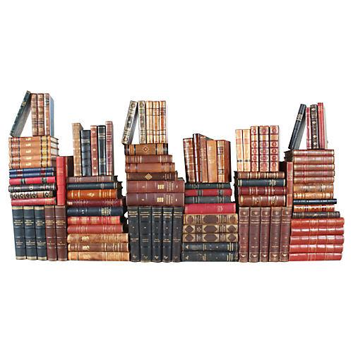 Decorative Leather Books, S/100