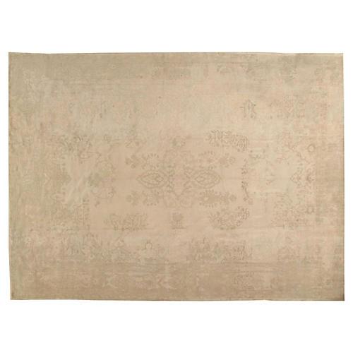 """Antique Oushak Carpet, 9'11"""" x 13'8"""""""