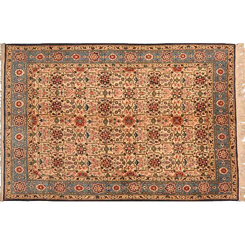 """Persian Tabriz Rug, 4'4"""" x 6'8"""""""