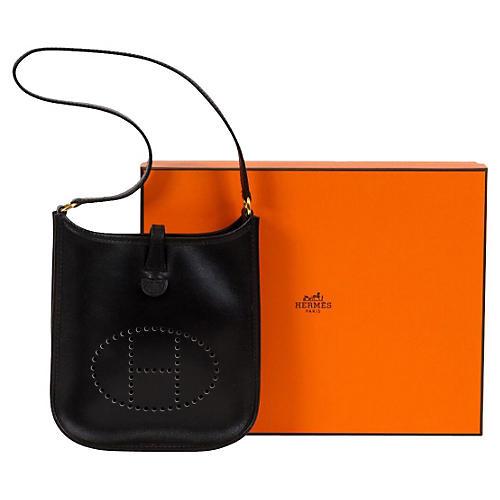 Hermès Mini Black Evelyne Bag
