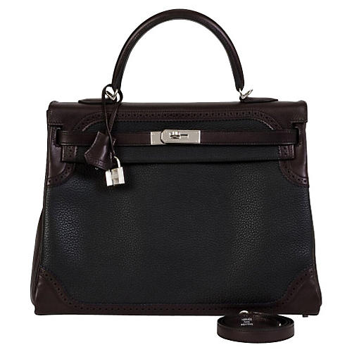Hermès Ghillies Black Kelly Bag