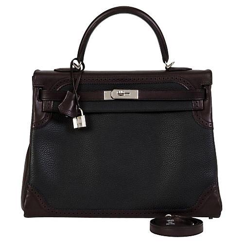 Hermès Ghillies Black Kelly Bag