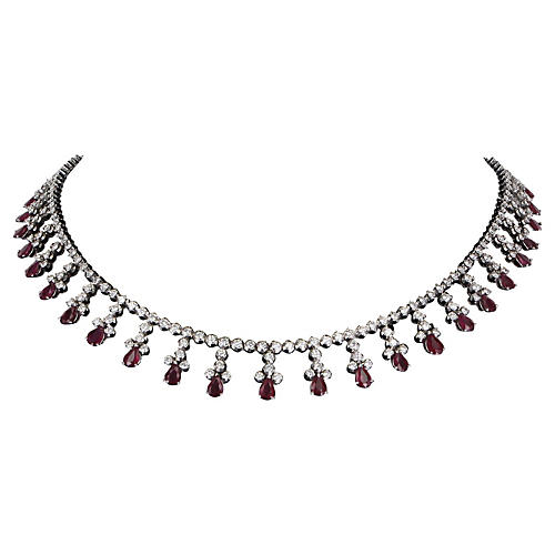 Fringe Rubies & Diamonds Necklace