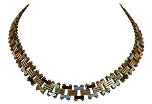 Machine Age Enameled Link Necklace*