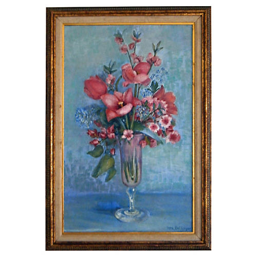 Floral Still Life on Canvas